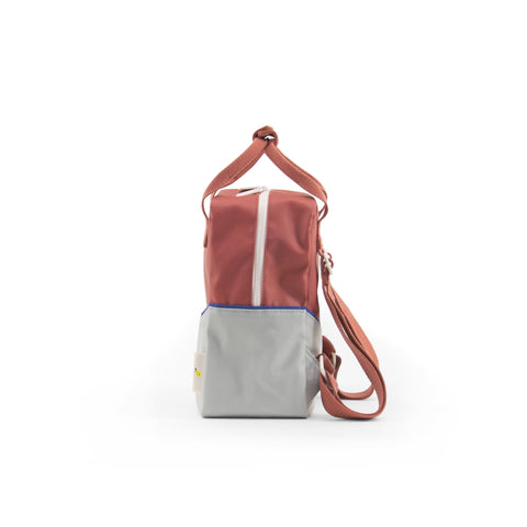 Small backpack diagonal faded red / powder blue - Sticky Lemon