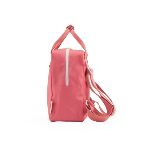 Small backpack vertical - watermelon pink | caramel fudge