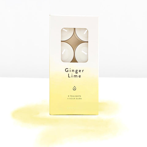 Ginger and lime scented tealights