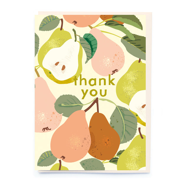 Thank you pears card