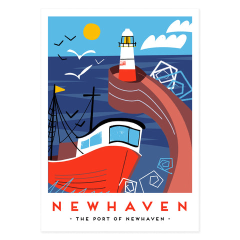 Port of Newhaven poster print