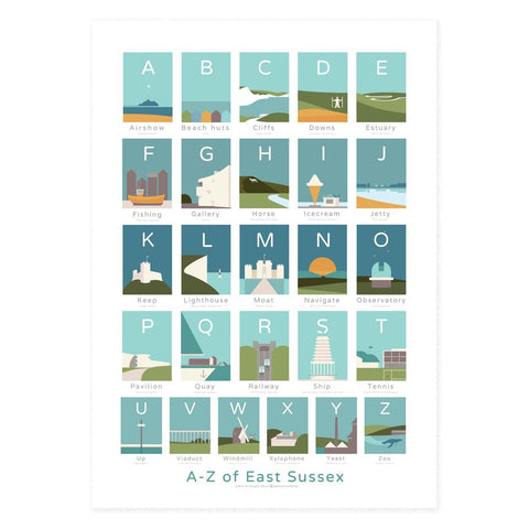A to Z of East Sussex A1 poster