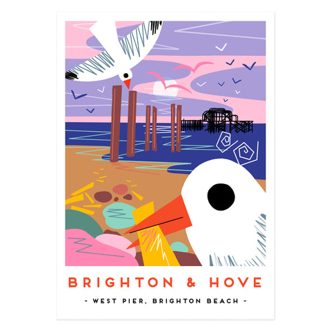 Brighton and Hove poster print