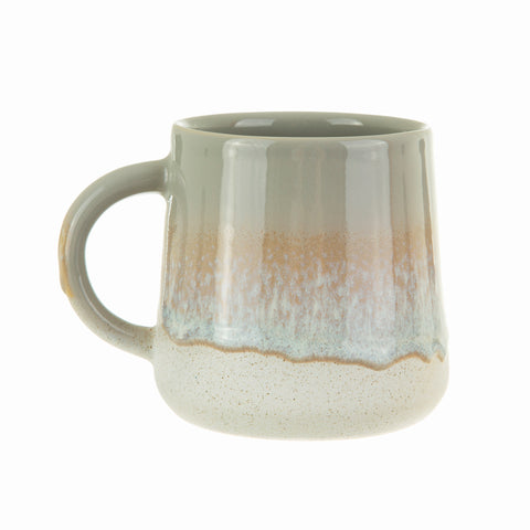 Ombre grey ceramic mug