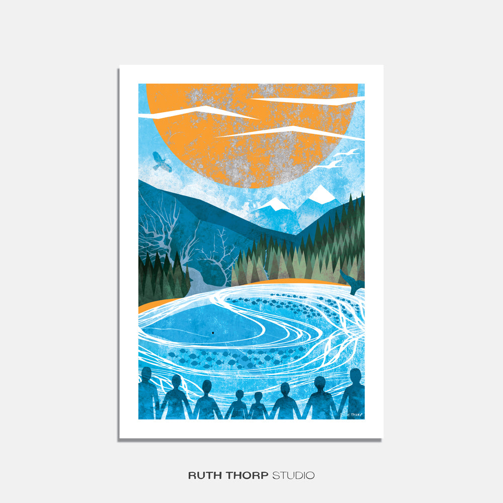 Unsung heroes print Ruth Thorp A4
