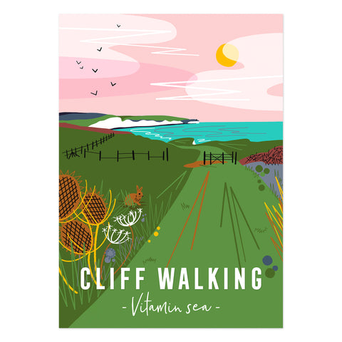 Cliff walking Vitamin Sea poster print
