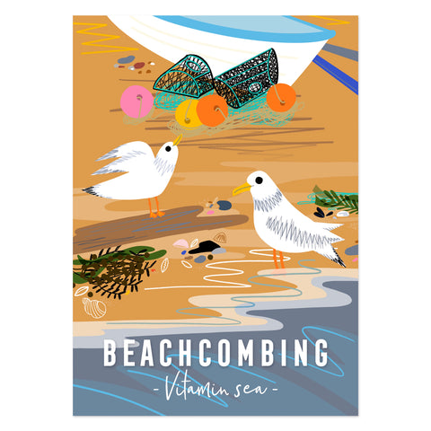 Beachcombing Vitamin Sea poster print