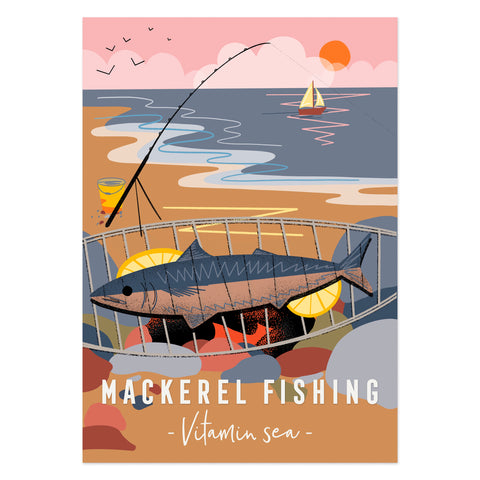 Mackerel fishing Vitamin Sea poster print