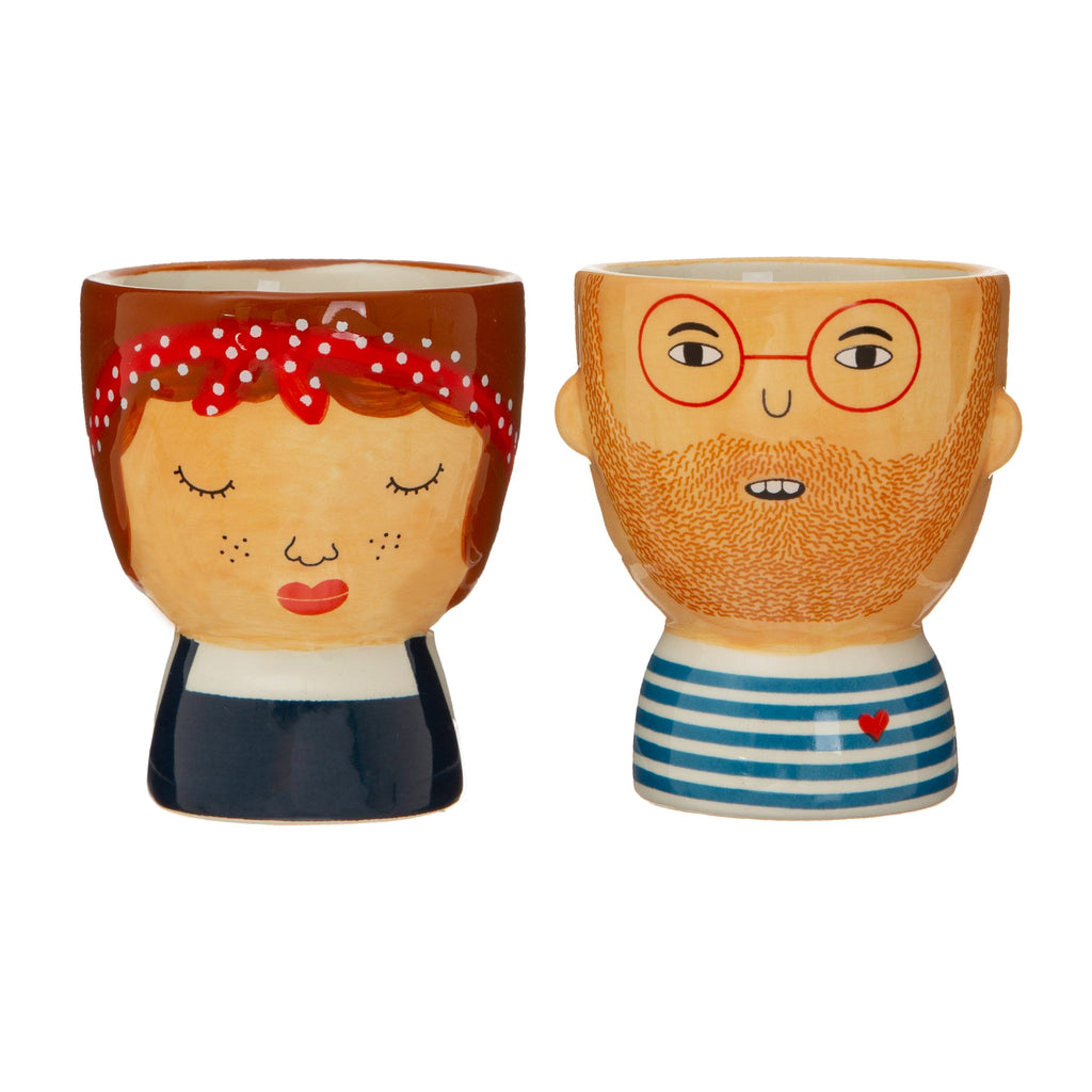 Quirky egg cups set of two