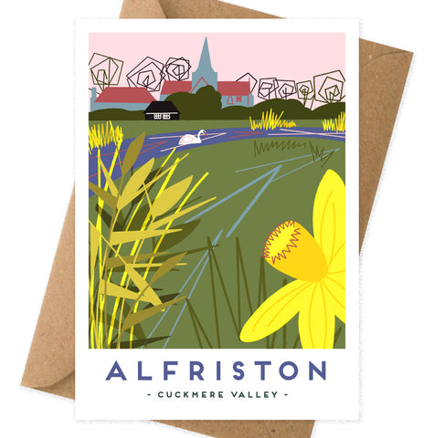 Alfriston Cuckmere valley card