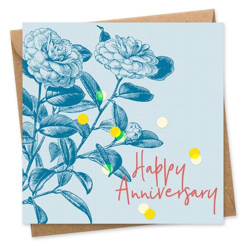 Happy Anniversary Confetti Card square