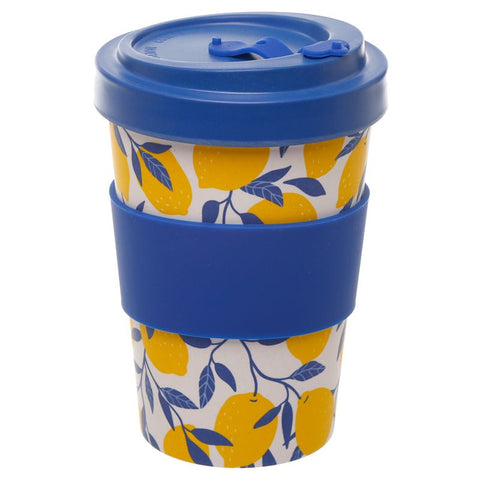 Screw Top Bamboo Composite Travel Mug Lemon print