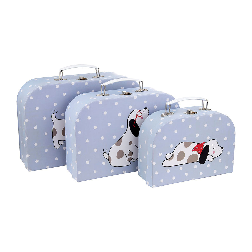Sass and belle barney the dog set of three suitcases storage solution