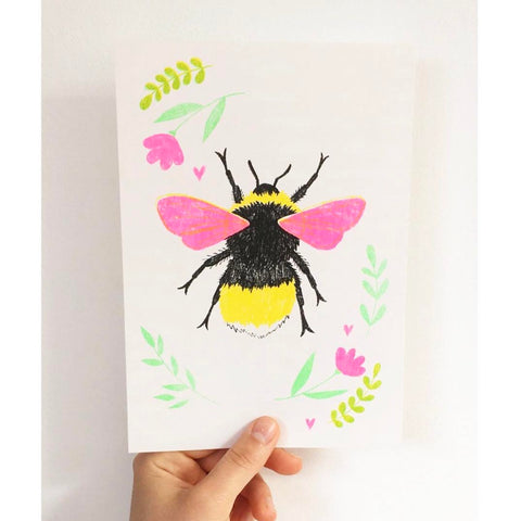 Bee riso print Emma West