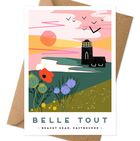 Belle tout lighthouse Eastbourne card
