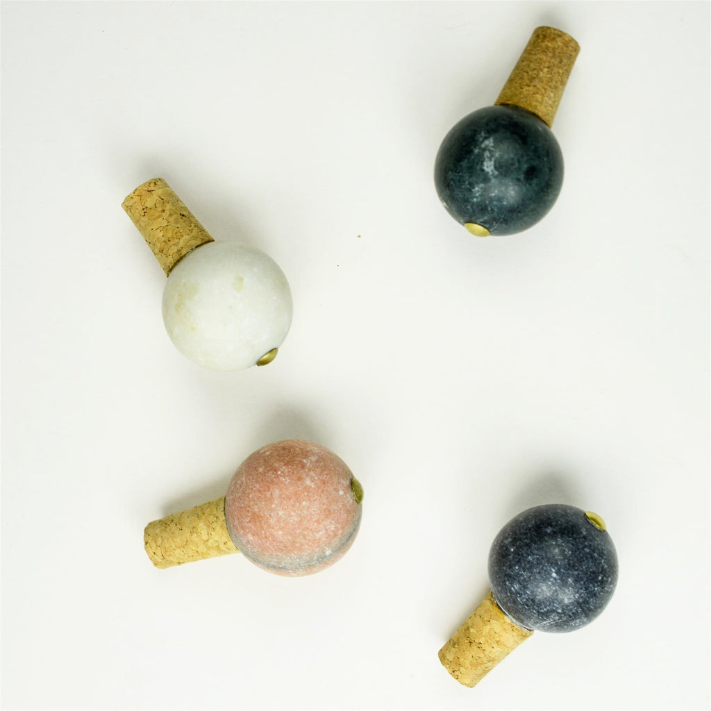marble bottle stopper white