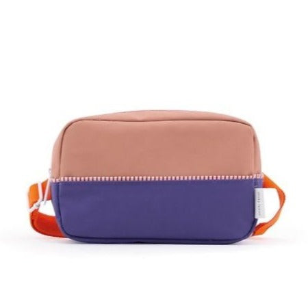 Bum bag large colour blocking purple