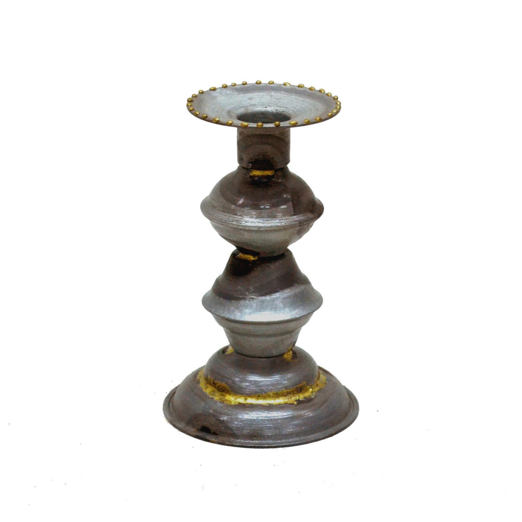 Candle stick artisan metal