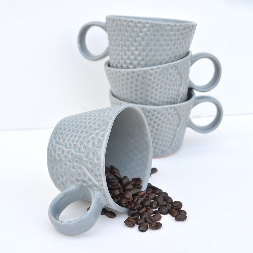 Textured coffee cup ceramic