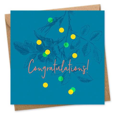 Congratulations Confetti card square