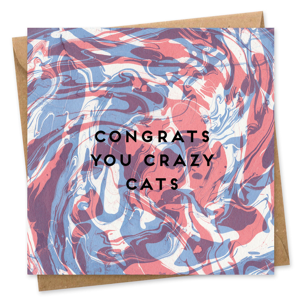 Congratulations Card Onneke Congrats you crazy cats