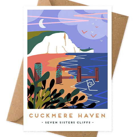 Cuckmere haven seven sisters cliffs card