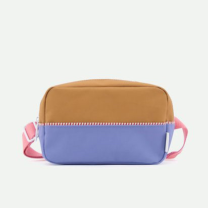 Bum bag large colour blocking blue