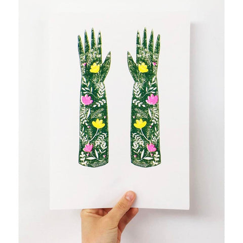 Green fingers riso print Emma West