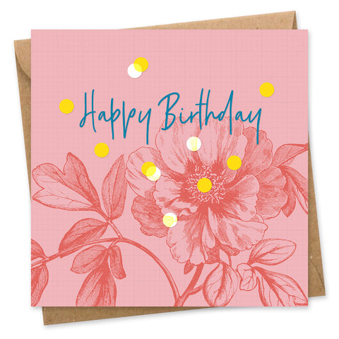 Happy birthday confetti card square
