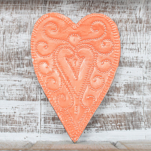 Heart decoration, small token gift, metal heart, folklore
