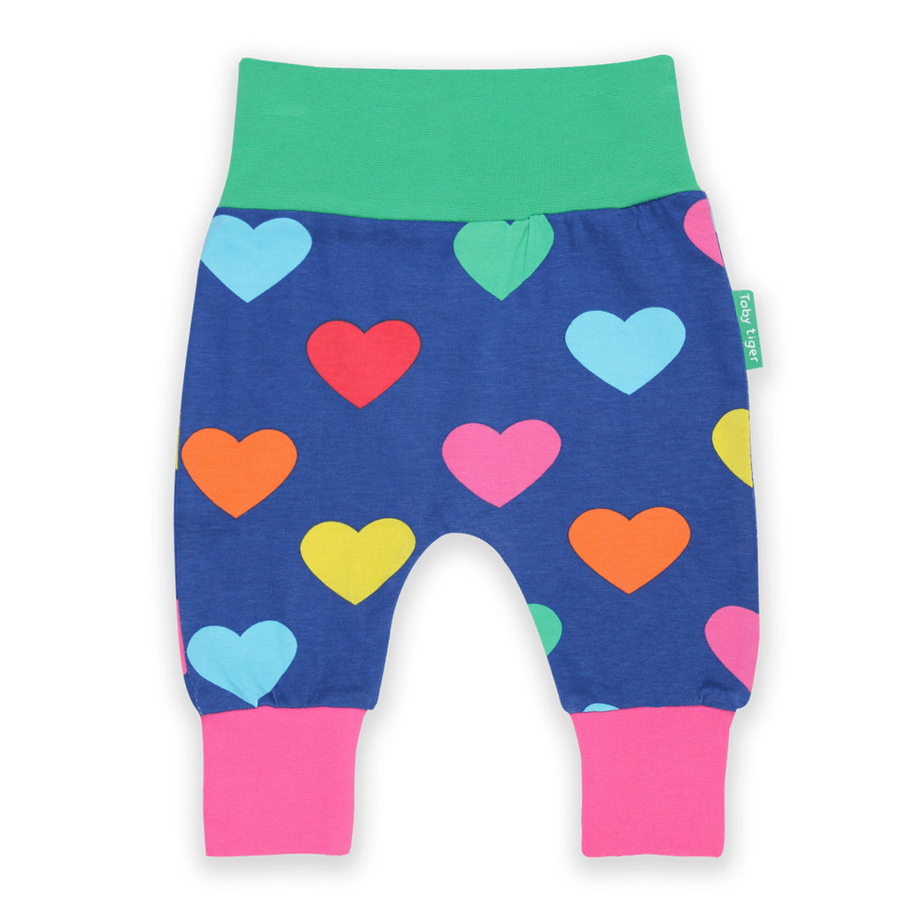 Yoga pants organic cotton Toby Tiger hearts