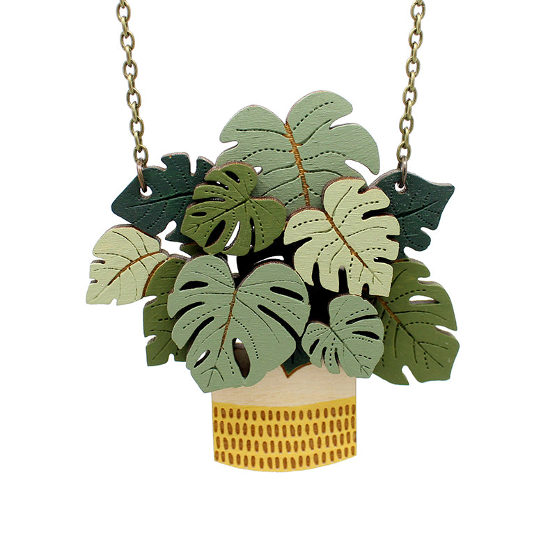 Monstera necklace Layla Amber