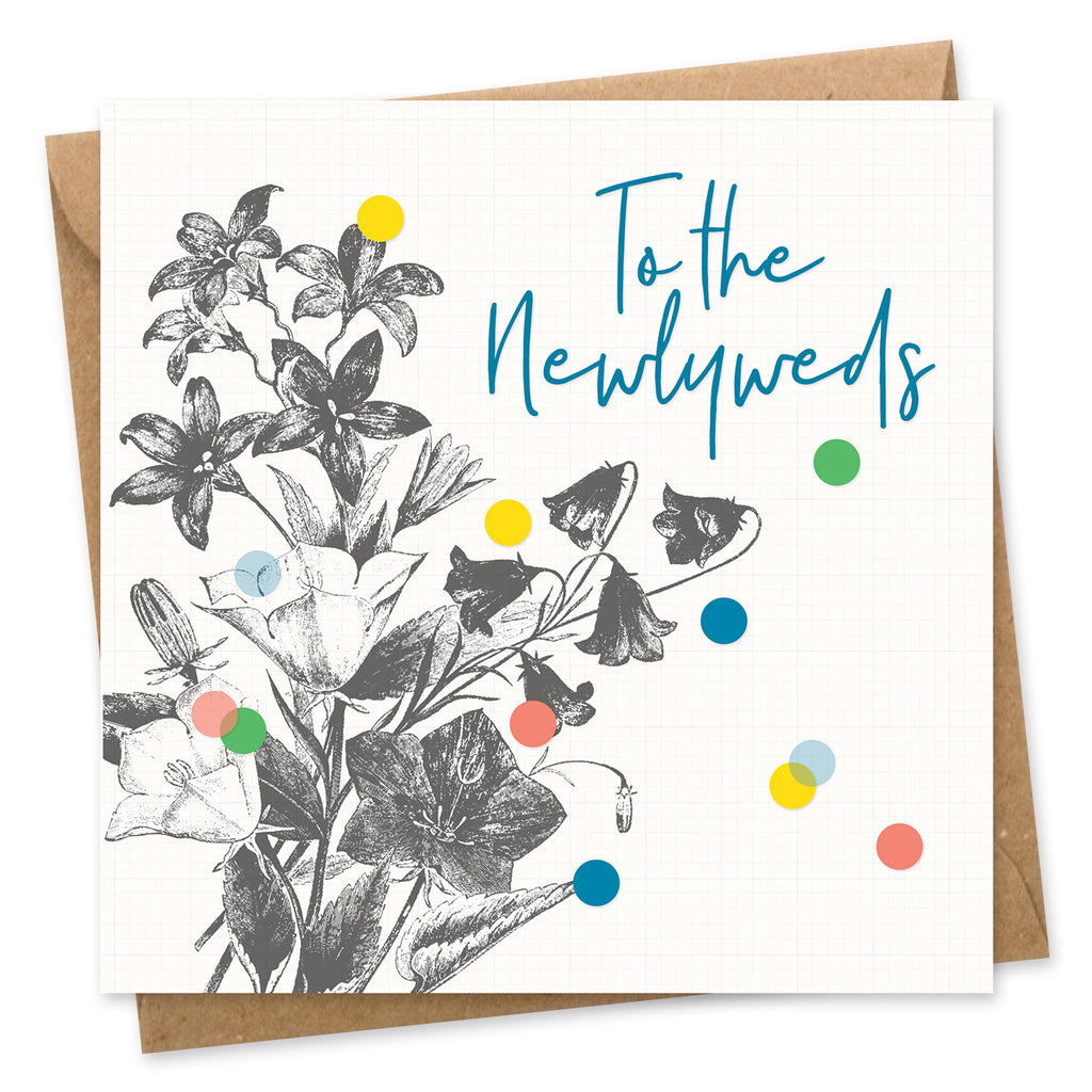 To the Newlyweds confetti card square