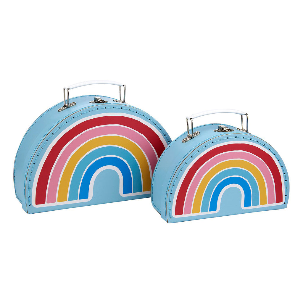 rainbow suitcases set of two storage sass and belle