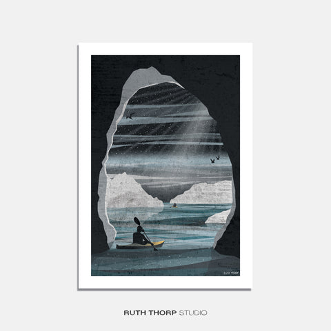 Ice adventure print Ruth Thorp A4