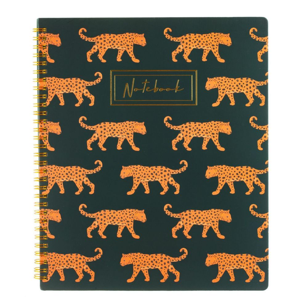 A4 notebook leopards