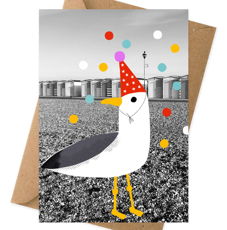Seagull seaford beach greeting card