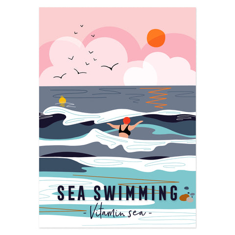 Sea swimming Vitamin Sea poster print