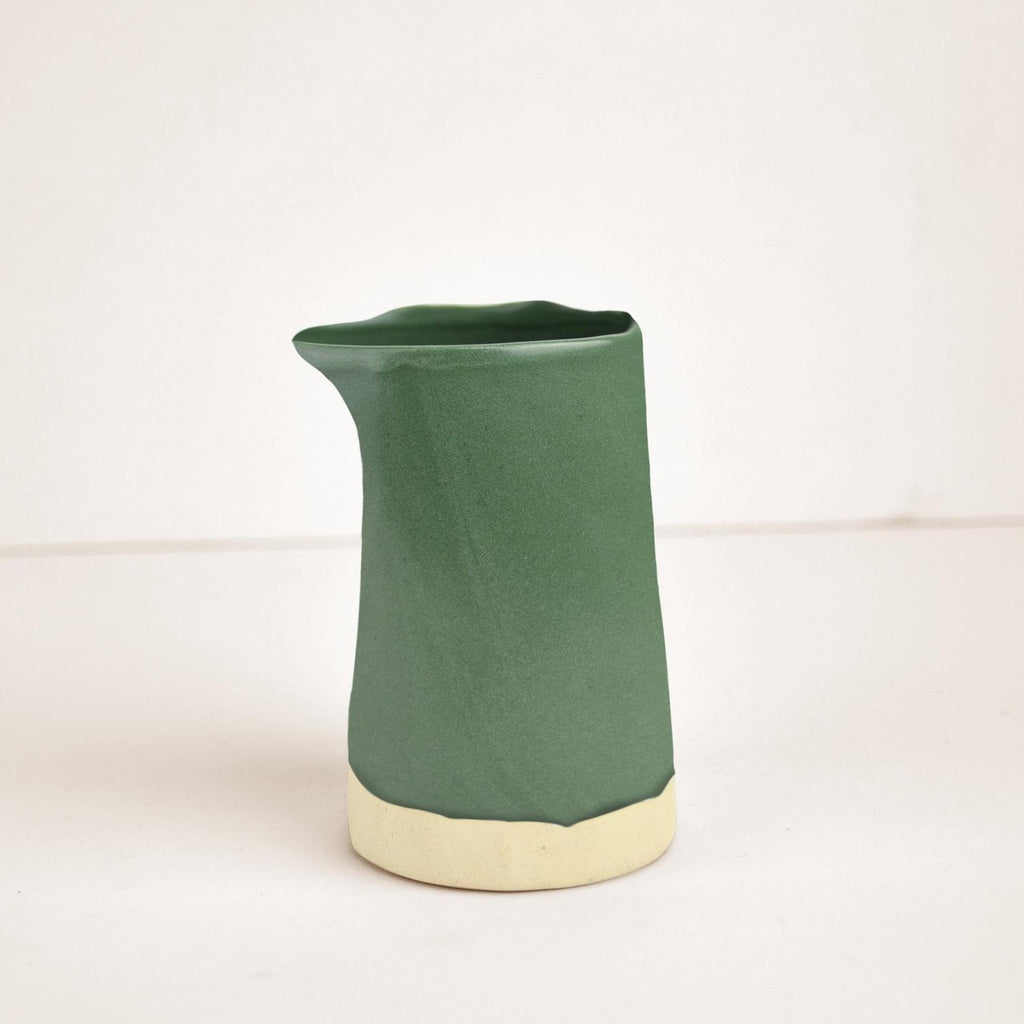 Ceramic carafe green
