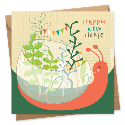 Snail happy new home card