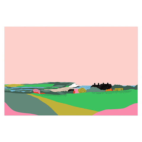 Tea towel dreamy landscape