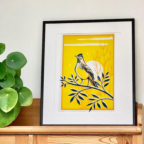 Up with the lark screenprint