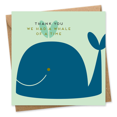 Whale of a time thank you card