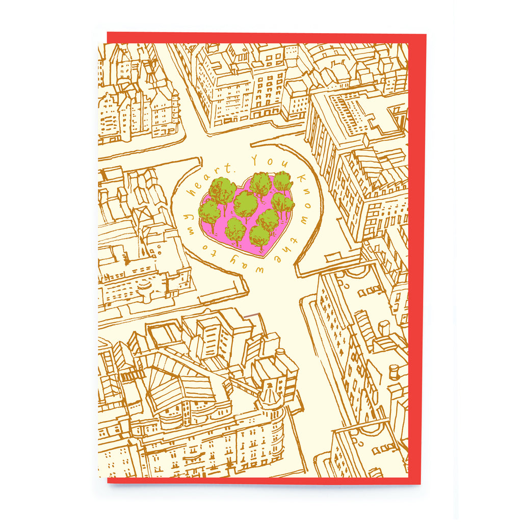 Love map Valentine's card