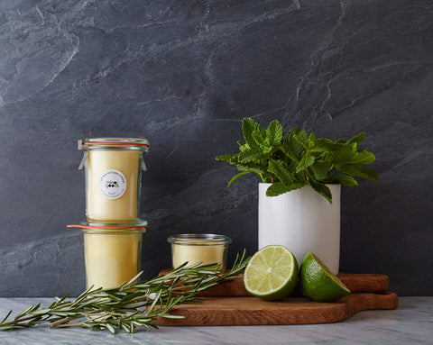 Natural Kitchen Candles - Mint