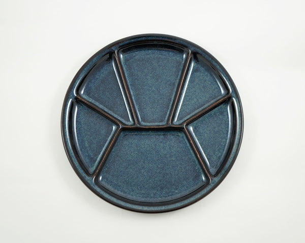 Divided Plate - Dark Blue