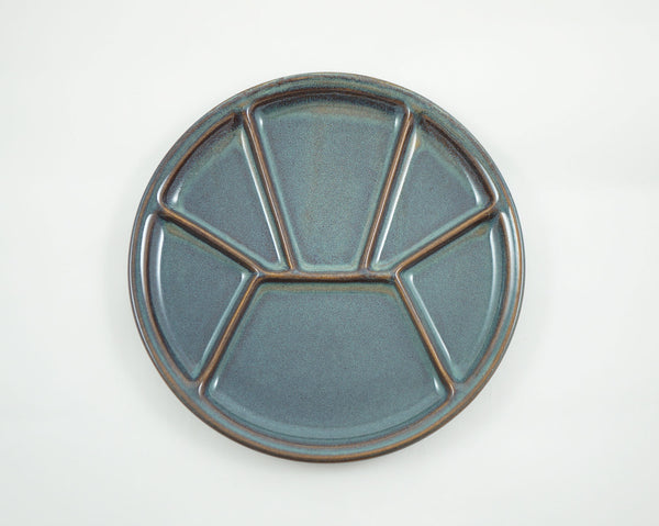 Divided Plate - Green Blue
