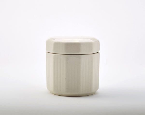 Vintage Pot with Lid - Off White