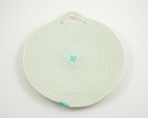 Cotton Cord Placemat - Aqua