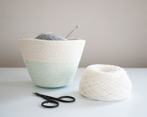 Cotton Cord Bowl - Aqua